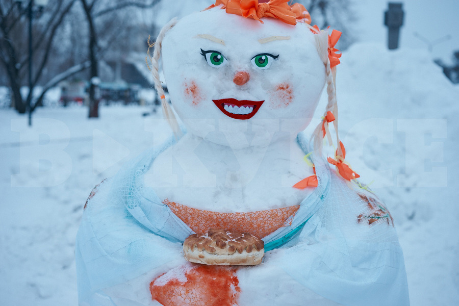 Фото красивых и необычных снеговиков