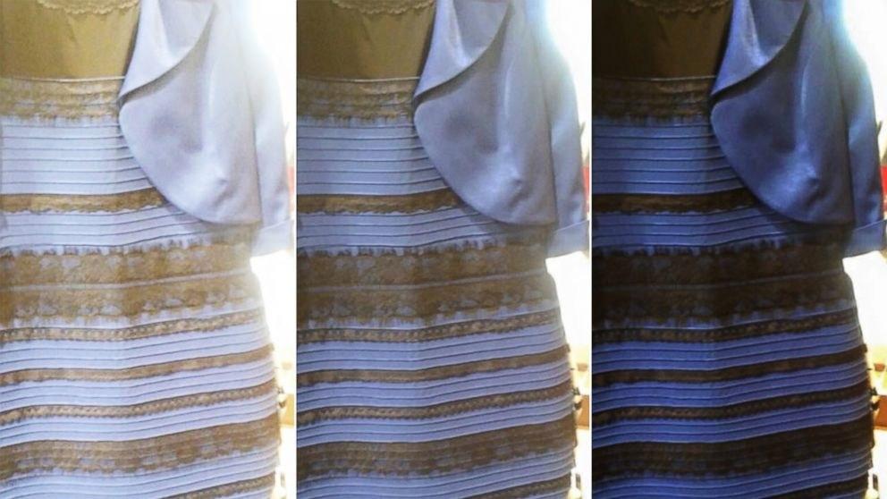 Платье синего или белого цвета фото